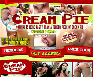 Welcome to Cream Pie - sexy girls getting their pussies filled with creampies!