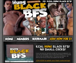If you're crazy about real supersized chocolate dicks, then give HungBlackBFs.Com a try!