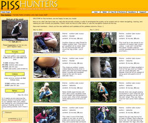 PissHunters.com - Site is dedicated to the subject of Female Public Urination, Real amateur voyeur photos of unsuspecting women caught with their pants down in all sorts of Outdoor Public Pee poses and situations. You will see pics taken in a variety of public venues, including bars&restaurant areas, sporting events, concerts, Mardi Gras and many more.