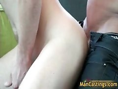 Guy with cute face sucks stiff boner gay porn